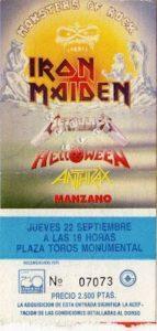 ticket monsters Bcn 1988